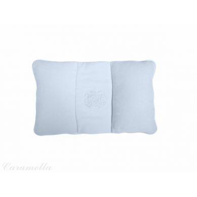 Caramella - Poduszka Podróżna Błękitna Welurowa