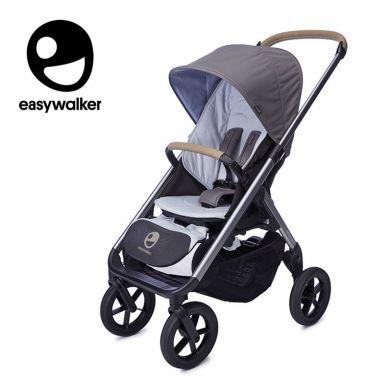 Easywalker - Mosey+ Wózek Głęboko-spacerowy Pebble Grey (zawiera stelaż, siedzisko z budką i pałąkiem)