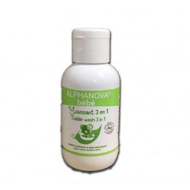 Alphanova Bebe - Organiczny Płyn do Kąpieli dla Dzieci 3 w 1 50 ml