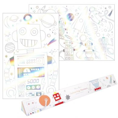 Meri Meri - Plakaty Kolorowanki Kosmos 3+