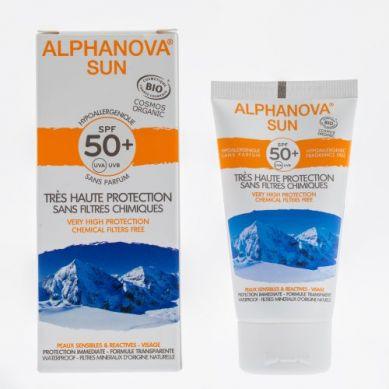 Alphanova Sun- Bio Krem Przeciwsłoneczny Hipoalergiczny Wodoodporny Filtr SPF50 50g