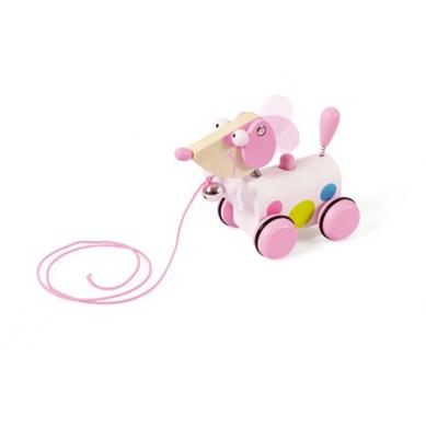 Scratch - Mały Różowy Piesek do Ciągnięcia Ella