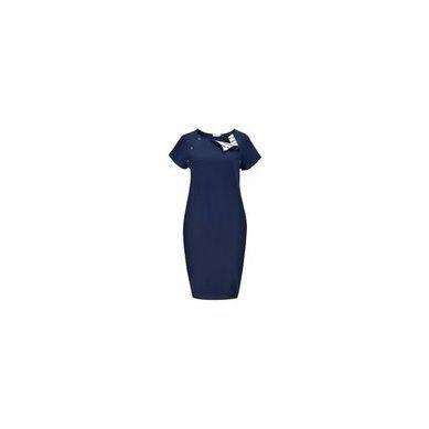 Granatovo - Sukienka Basic do Karmienia Granatova Marynarskie Paski Long S/M/L