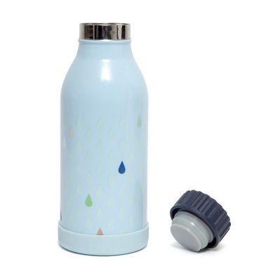 Petit Monkey - Stalowa Butelka na Wodę Drops Blue