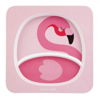 Sunnylife - Talerz z Melaminy Flamingo