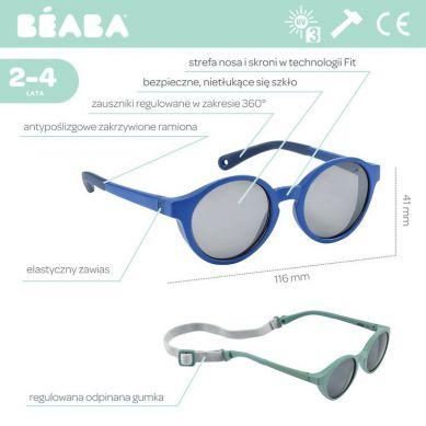 Beaba - Okulary Przeciwsłoneczne dla Dzieci 2-4 lat Mazarine Blue