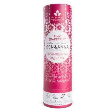 Ben and Anna - Naturalny Dezodorant na Bazie Sody Pink Graperfruit w Sztyfcie Kartonowym