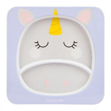 Sunnylife - Talerz z Melaminy Unicorn