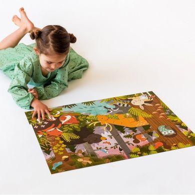 Petit Collage - Puzzle Podłogowe Las