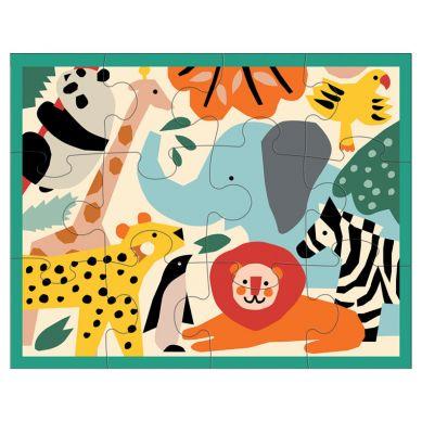 Mudpuppy - Puzzle w Saszetce 12 Elementów Dzikie Zwierzęta