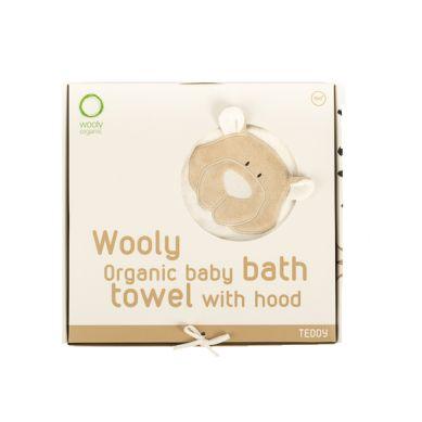Wooly Organic - Organiczny Ręcznik Kąpielowy z Kapturem Classic Teddy 75x75cm