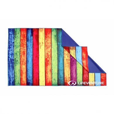 LittleLife - Ręcznik Szybkoschnący Soft Fibre Lifeventure 15x90 Striped Planks