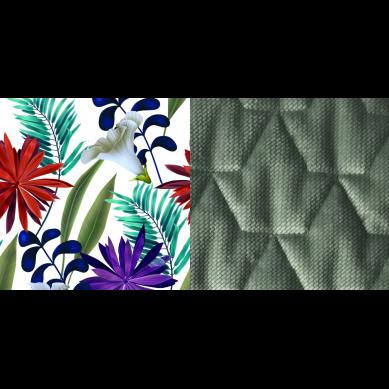 La Millou - Kocyk/Narzutka Przedszkolaka Velvet Collection 110x140 Botanic Garden Bright Khaki