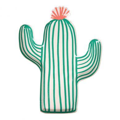Meri Meri - Zestaw Talerzyków Urodzinowych Cactus