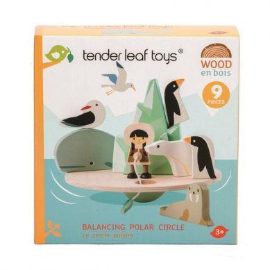 Tender Leaf Toys - Drewniana Gra Zręcznościowa Balansujący Biegun Polarny 3+