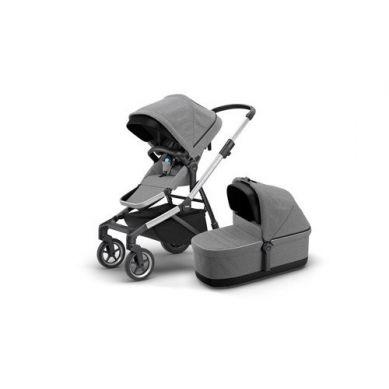 THULE - Sleek Wszechstronny Wózek Zestaw Siedzisko Spacerowe + Gondola Grey Melange