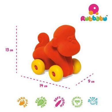 Rubbabu -  Małpka Pojazd Sensoryczny Pomarańczowy