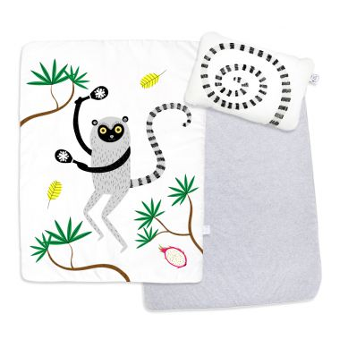 Maki Mon Ami - Dwustronny, Ocieplany Zestaw do Spania z Lemurem Leonem (L)