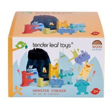 Tender Leaf Toys - Drewniana Gra Zręcznościowa Wesołe Potwory 3+