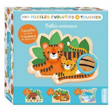 Auzou - Puzzle Ewolucyjne Dotykowe Zwierzątka