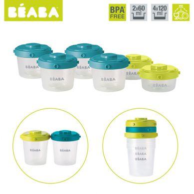Beaba - Zestaw Słoiczków Clip 6 szt. 60 ml i 120 ml