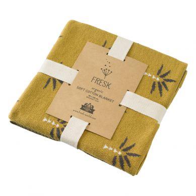 Fresk - Letni Tkany Kocyk z Bawełny Organicznej 80 x 100 cm Palma