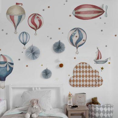 Dekornik - Zestaw Naklejek Ściennych Balony Sky is the Limit L