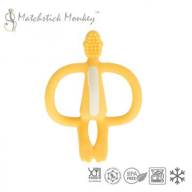 Matchstick Monkey - Gryzak Masujący ze Szczoteczką Yellow
