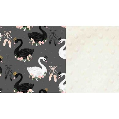La Millou - Kocyk Średniaka 80 x100 cm Black Swan Ecru