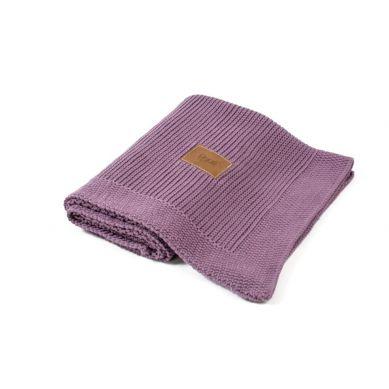 Poofi - Tkany Kocyk z Bawełny Organicznej Violet