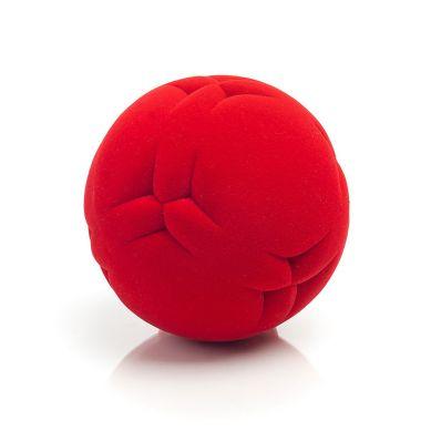 Rubbabu - Piłka Sensoryczna z Delikatną Fakturą Wycinanki Czerwona