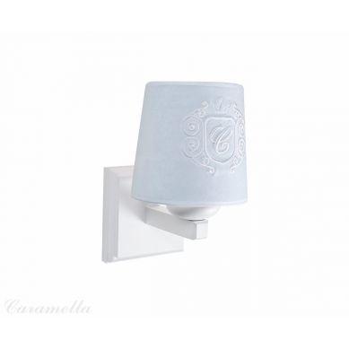 Caramella - Kinkiet Welurowy Błękitny z Emblematem