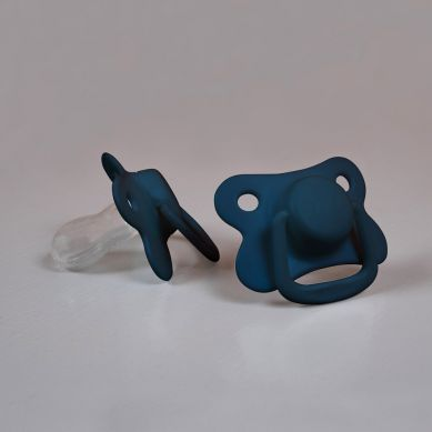 Filibabba - Smoczek 6m+ Dark Blue 2szt.