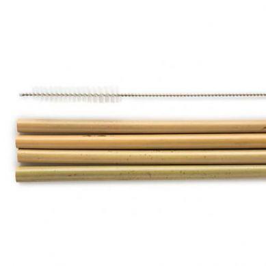 Humble Brush - Słomka Bambusowa ze Szczotką do Czyszczenia ze Stali Nierdzewnej