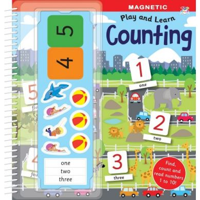 Wydawnictwo Usborne Publishing - Magnetic Play Book - Counting