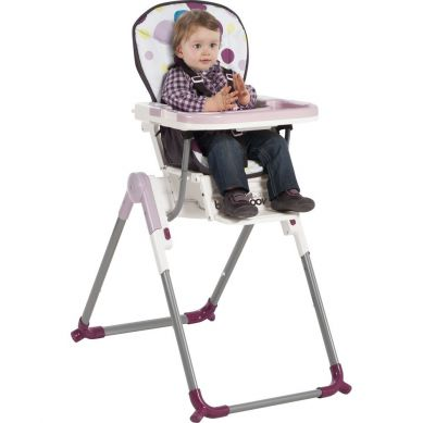 Babymoov - Wysokie Krzesełko do Karmienia Różowe