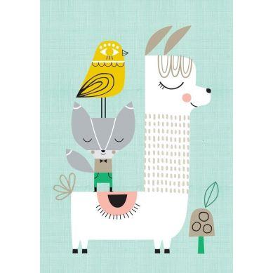 Petit Monkey - Plakat Sunshine Lama and Friends