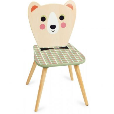 Vilac - Krzesełko Drewniane dla Dzieci Miś z Muszką