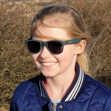 Koolsun - Okularki dla Dzieci Wave Gunmetal 3-10 lat