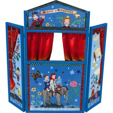 Vilac - Duży Teatrzyk Drewniany Niebieski By Nathalie Lété