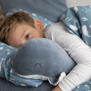 Little Dutch - Przytulanka Wieloryb 40cm Ocean Błękit