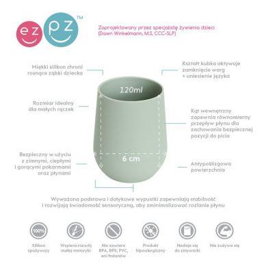 EZPZ - Silikonowy Kubeczek Mini Cup 120ml Pastelowa Zieleń