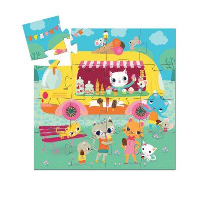Djeco - Puzzle Lodziarnia 16el.