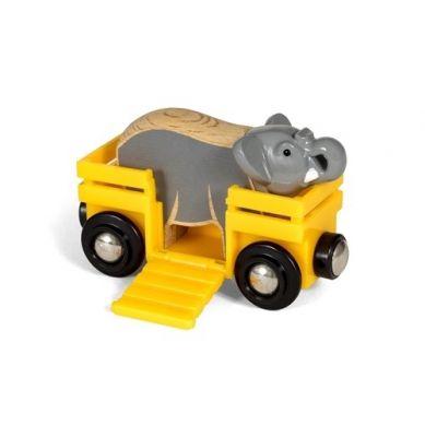 BRIO - World Wagon ze Słoniem Safari