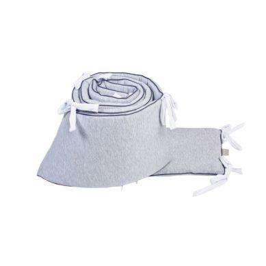 Poofii - Ochraniacz do Łóżeczka z Białymi Troczkami 360x28