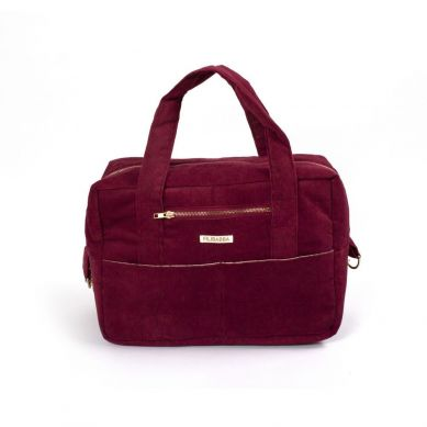 Filibabba - Torba Nursing Bag Sztruks Deeply Red