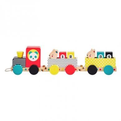 Petit Collage - Zabawka do Ciągnięcia Pociąg 18m+