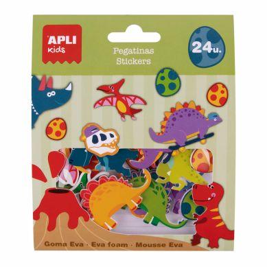 Apli Kids - Naklejki Z Pianki EVA Dinozaury 24 szt.