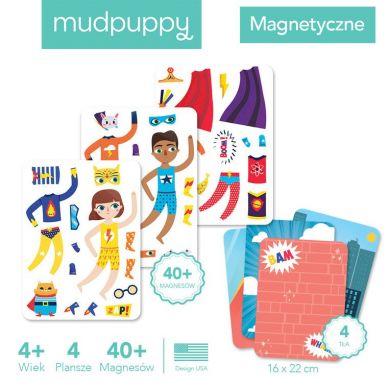 Mudpuppy - Magnetyczne Postacie Magiczne Super Dzieciaki 4+