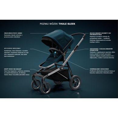 THULE - Sleek Wszechstronny Wózek Zestaw Siedzisko Spacerowe + Gondola Navy Blue